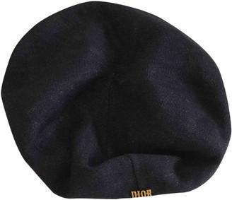 Christian Dior Navy Linen Hats