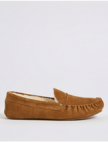 M&s Collection Shearling Moccasin Slippers