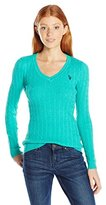 U.S. Polo Assn. Juniors Donegal Cable V-Neck Sweater