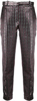 Carven metallic stripes cropped trousers - women - Polyester/Acetate/Viscose - 36