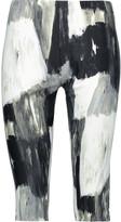 Norma Kamali Cropped printed stretch-jersey leggings