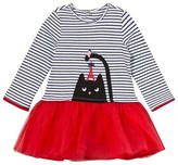 Catimini Jersey and Tulle Cat Print Dress