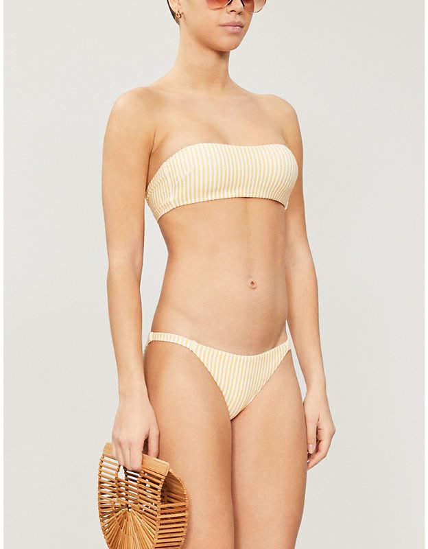 1b96e1e1dd559 Striped Bandeau Bikini Top - ShopStyle