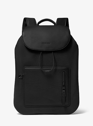Michael Kors Nylon and Leather Backpack - Black