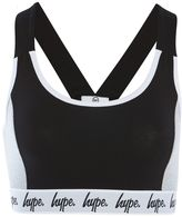 Hype **Black and Grey Taping Sports Bralet