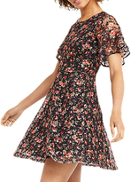 Oasis Double Layer Rose Dress, Black