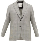 Giuliva Heritage Collection The Esther Prince Of Wales-check Wool Jacket - Womens - Black White