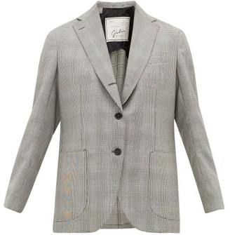 Giuliva Heritage Collection The Esther Prince Of Wales-check Wool Jacket - Black White