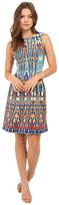 Christin Michaels Heidi Sleeveless Flare Dress