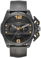 Diesel Men&s Ironside Leather Strap Watch