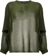 Roberto Collina loose fit jumper - women - Polyester/Viscose - M