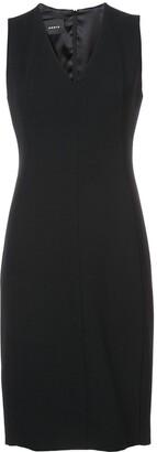 Akris V-neck pleat detail dress