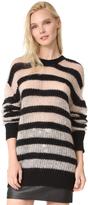 McQ by Alexander McQueen Alexander McQueen Stripe Crew Sweater