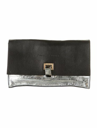 Proenza Schouler Leather Lunch Bag Clutch Black