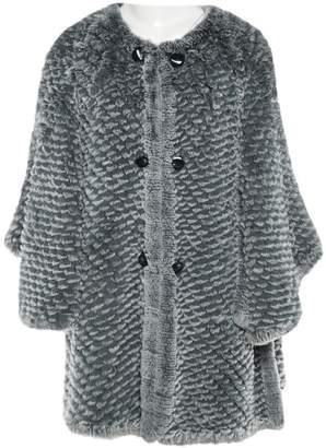 Armani Collezioni Grey Rabbit Coats