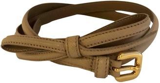 Prada Beige Leather Belts
