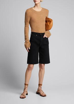 KHAITE Mitch Denim Bermuda Shorts