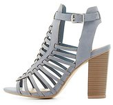 Charlotte Russe Buckled Huarache Sandals