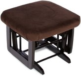 Dutailier Modern Espresso Finish Gliding Matching Ottoman, Brown Microfiber by