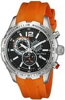 Nautica Men's NAD15510G NST 30 Analog Display Quartz Orange Watch by