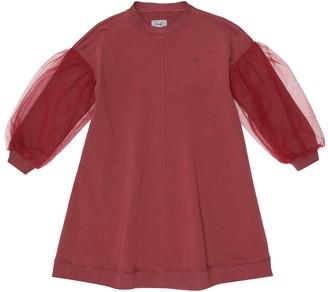 Il Gufo Tulle stretch-cotton jersey dress
