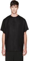 Thamanyah Black Wool Loden T-shirt