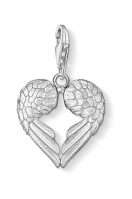 Thomas Sabo Ladies Sterling Silver Charm Club Heart Wings Charm 0613-001-12