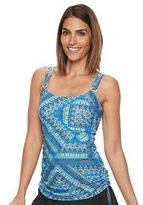Croft & Barrow Women's Tummy Slimmer D-Cup Side-Tassel Tankini Top