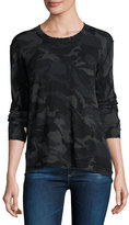Generation Love Abigail Distressed Cashmere Camo Sweater