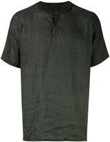 Transit - henley T-shirt - men - Linen/Flax - M
