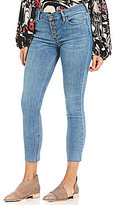Free People Reagan Raw Hem Cropped Skinny Jeans
