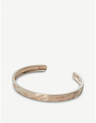 Chopard Chopardissimo 18ct rose-gold and diamond bangle