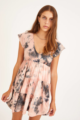 Urban Outfitters Julia Tiered Ruffle Mini Dress