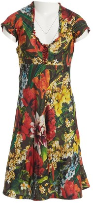 Mulberry Multicolour Silk Dress for Women