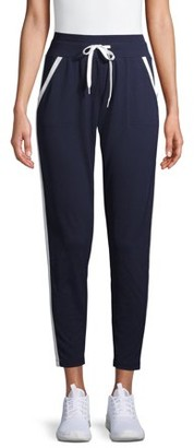 Athletic Works Women's Athleisure Track Pants with Contrast Stripes