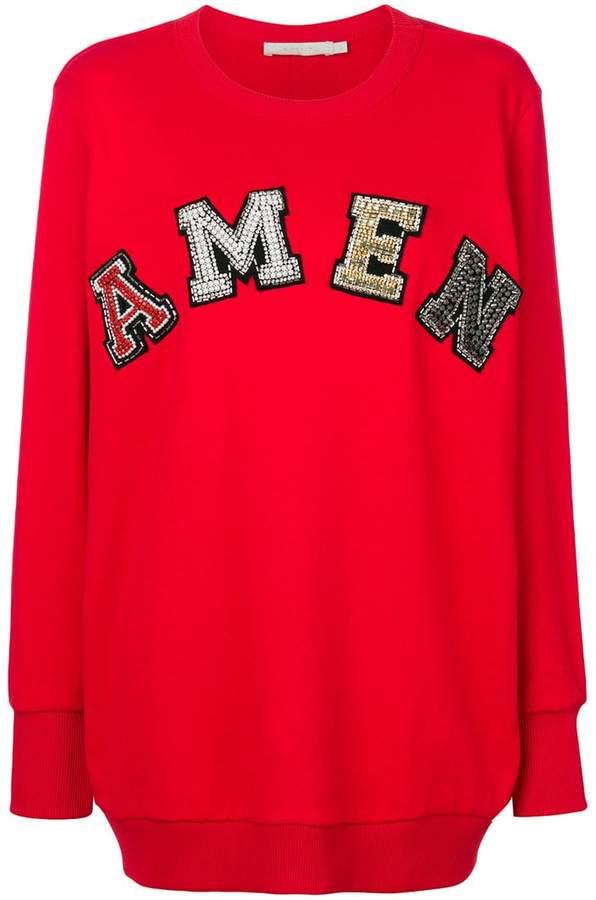 Amen logo applique sweatshirt