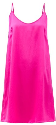 Araks Pearl Washed-silk Slip Dress - Fuchsia