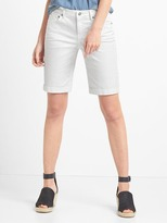 Mid rise denim bermuda shorts