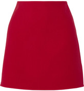 Theory Irenah Saxton Stretch Wool-crepe Mini Skirt - Claret