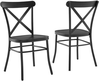 Crosley Camille 2Pc Metal Chair Set