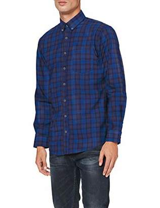 Brax Men's Dries Silk Wash Button Down Casual Regular Fit Shirt