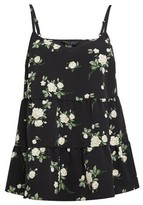 Dorothy Perkins Womens Black Recycled Polyester Floral Print Camisole Top, Black