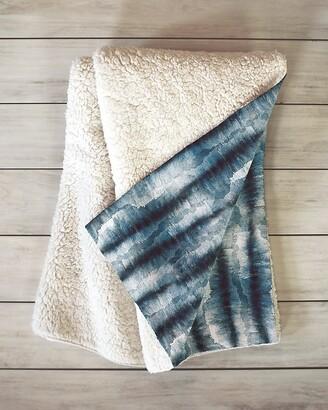 Express Deny Designs Stone Dark Texture Sherpa Throw Blanket