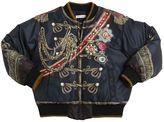 Dolce & Gabbana Printed Nylon Down Bomber Jacket