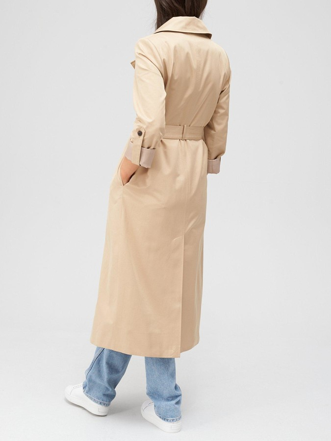 Thumbnail for your product : Very Longline Trench Coat - Beige