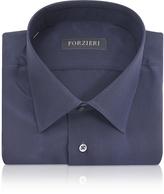 Forzieri Blue Pure Silk Dress Shirt