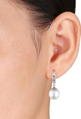FINE JEWELRY Genuine South Sea Pearl 14K White Gold Clip-On Drop Earrings