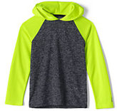 Classic Boys Husky Hooded Active Tee-Electric Blue Space Dye