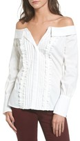 Socialite Women's Ruffle Off The Shoulder Shirt