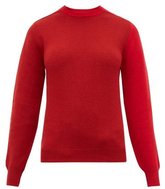 Sara Lanzi Patchwork Merino Wool-blend Sweater - Red